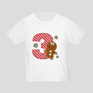 Gingerbread Boy 3rd Birthday Toddler T-Shirt