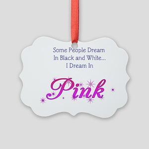 Dream-Pink lg Picture Ornament