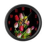 Tulips Large Wall Clock