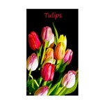 Tulips Sticker (Rectangle)