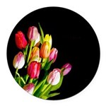 Tulips Round Car Magnet