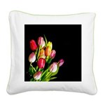 Tulips Square Canvas Pillow