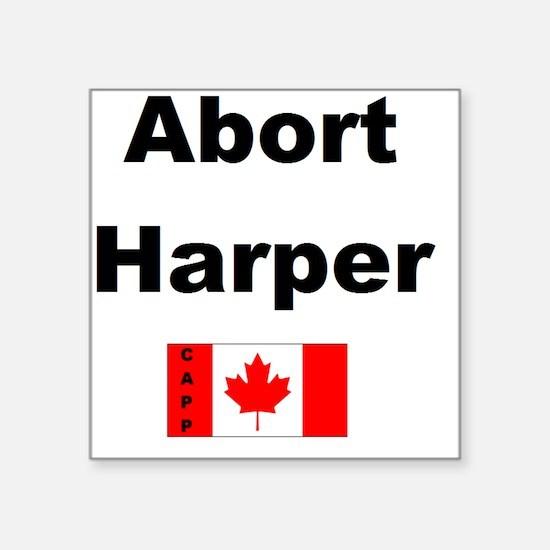 """Abort Harper Square Sticker 3"""" x 3"""""""