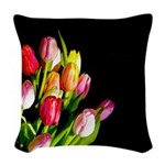 Tulips Woven Throw Pillow