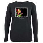 Tulips Plus Size Long Sleeve Tee