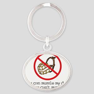 Muzzle Oval Keychain