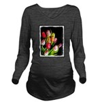 Tulips Long Sleeve Maternity T-Shirt