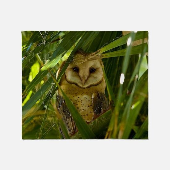 Palm Tree Owlet Throw Blanket