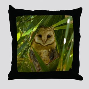 Palm Tree Owlet Throw Pillow