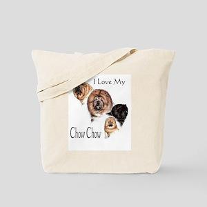 I Love my Chow Chow Tote Bag