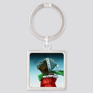 Decembers Bliss Square Keychain