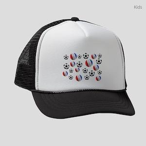 France Soccer Balls Kids Trucker hat
