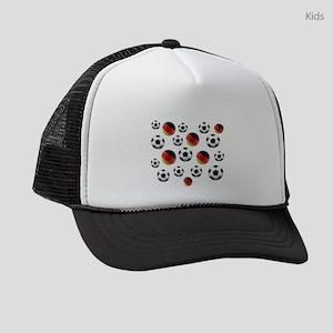Germany Soccer Balls Kids Trucker hat