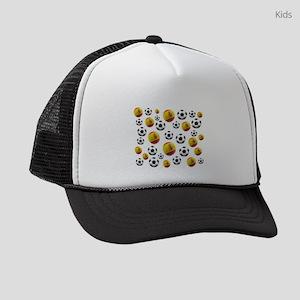 Spain Soccer Balls Kids Trucker hat