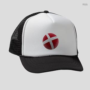 Denmark world cup ball Kids Trucker hat
