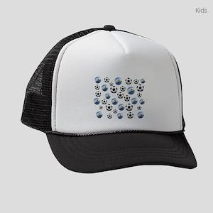 Argentina Soccer Balls Kids Trucker hat