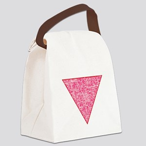 Pink Triangle distressed Canvas Lunch Bag