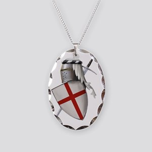 shield of st gerge Necklace Oval Charm