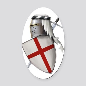 shield of st gerge Oval Car Magnet