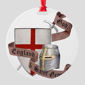 2-knights templar non nobis st geor Round Ornament