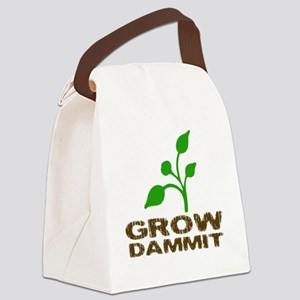growDammitLite Canvas Lunch Bag