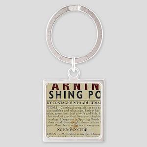 Fishing-Pox Square Keychain