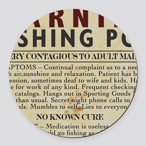 Fishing-Pox Round Car Magnet