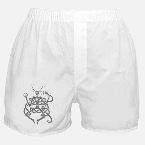 grey cernunnos Boxer Shorts