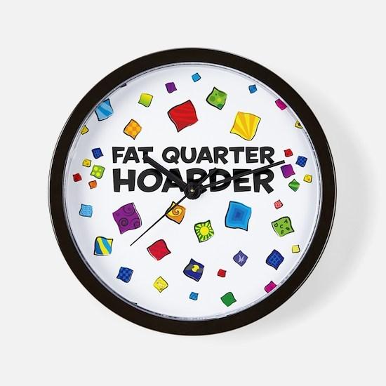 FatQuarterHoarderTote Wall Clock