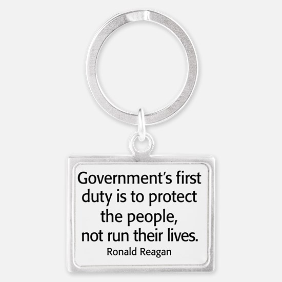 Ronald Reagan Quote Limited Gov Landscape Keychain