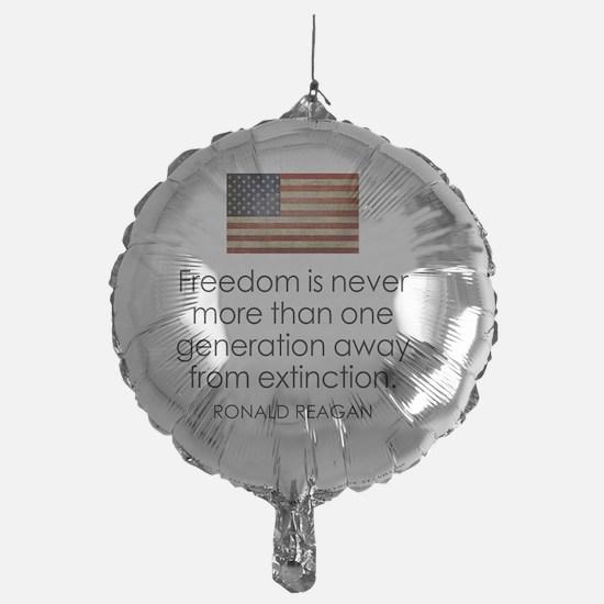 Reagan Quote on Freedom Balloon