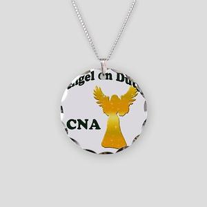 Angel on duty cna copy Necklace Circle Charm