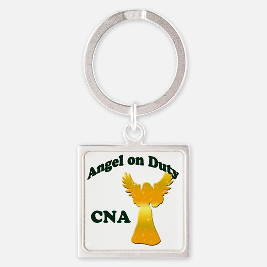 Angel on duty cna copy Square Keychain