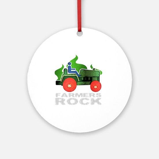 farmersRockDark Round Ornament