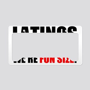 FUN SIZE License Plate Holder
