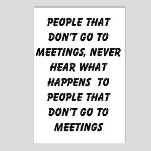 MEETINGS Postcards (Package of 8)
