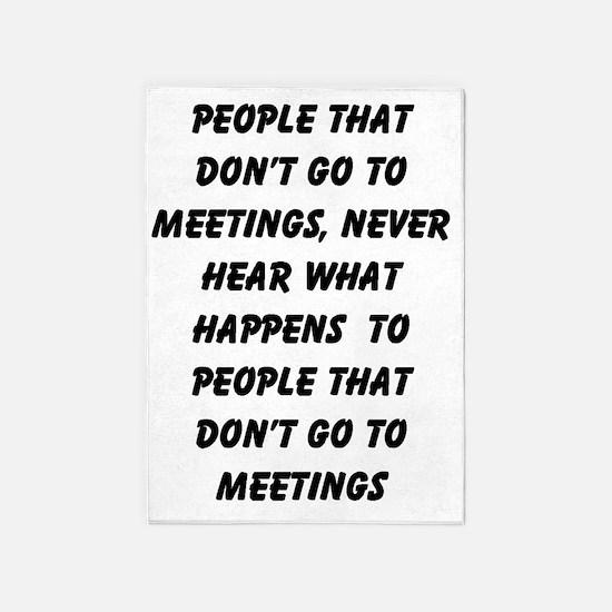 MEETINGS 5'x7'Area Rug