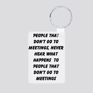 MEETINGS Aluminum Photo Keychain