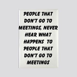 MEETINGS Rectangle Magnet
