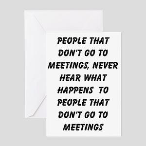 MEETINGS Greeting Card