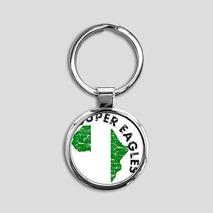 african soccer designs Round Keychain