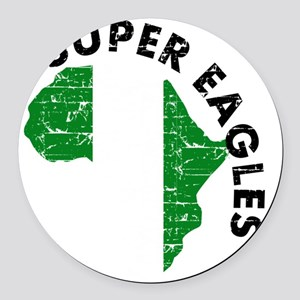 african soccer designs Round Car Magnet