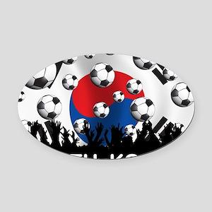 Korea Republic World Cup 2 Oval Car Magnet