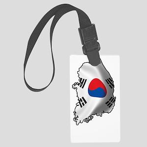 SouthKorea2Bk Large Luggage Tag