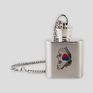 SouthKorea2Bk Flask Necklace