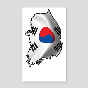 SouthKorea2Bk Rectangle Car Magnet