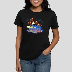 Five Little Monkeys Women's Dark T-Shirt