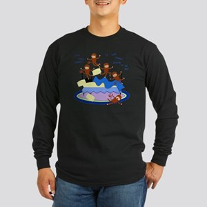 Five Little Monkeys Long Sleeve Dark T-Shirt