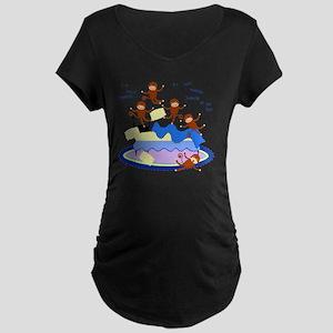 Five Little Monkeys Maternity Dark T-Shirt