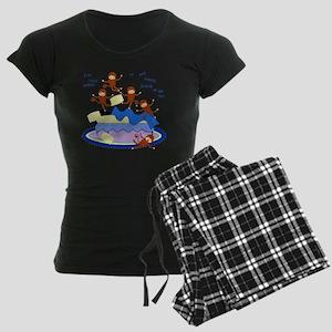 Five Little Monkeys Women's Dark Pajamas